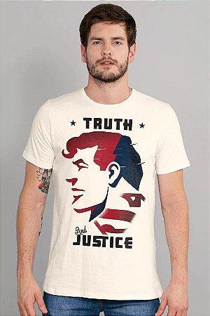 Camiseta Masculina Superman Truth and Justice