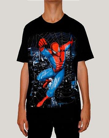 Camiseta Masculina Homem Aranha
