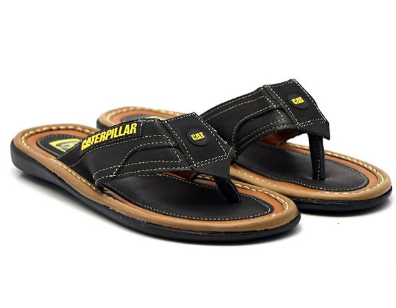 Chinelo Caterpillar Preto