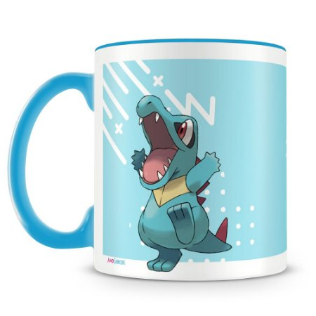 Caneca Personalizada Pokémon Totodile (Mod.2)