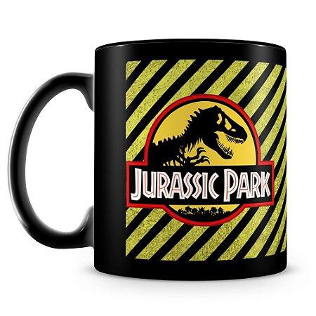 Caneca Personalizada Jurassic Park (100% Preta)