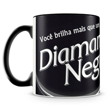 Caneca Personalizada Chocolate Diamante Negro
