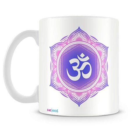 Caneca Personalizada Mandala OM (Lilás)