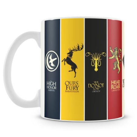 Caneca Personalizada Game Of Thrones Bandeiras