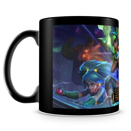 Caneca Personalizada League of Legends - Mod.2 (100% Preta)