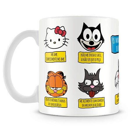 Caneca Personalizada Mandamentos de um Gato