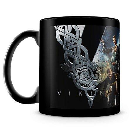 Caneca Personalizada Vikings (100% Preta)