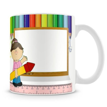 Caneca Personalizada Dia dos Professores (Menina)