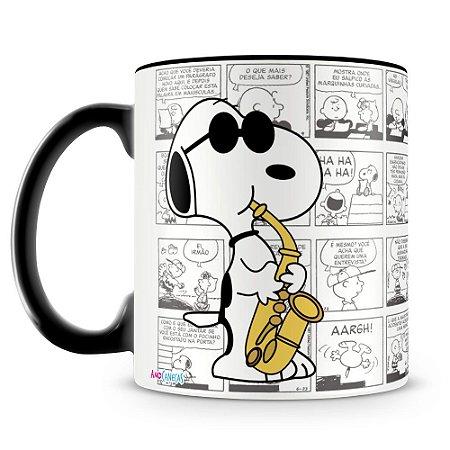 Caneca Personalizada Snoopy Músico