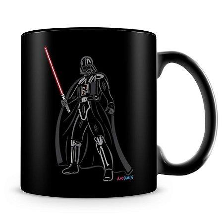 Caneca Personalizada Darth Vader Sabre de Luz (100% Preta)