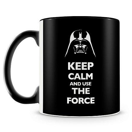 Caneca Personalizada Darth Vader Keep Calm (Preta)