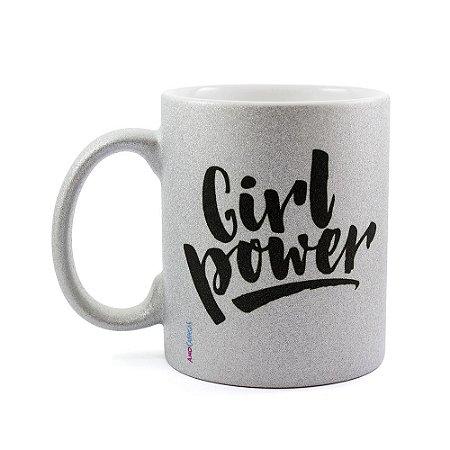 Caneca Personalizada com Glitter Girl Power