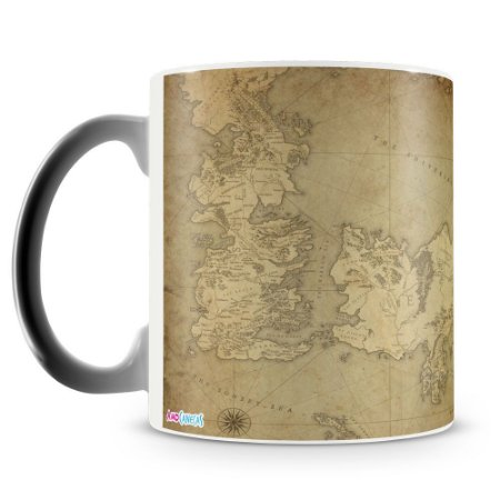 Caneca Mágica Personalizada Mapa Game of Thrones