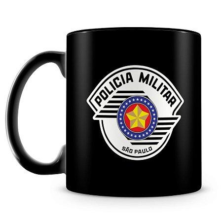 Caneca Personalizada Polícia Militar de São Paulo (100% Preta)
