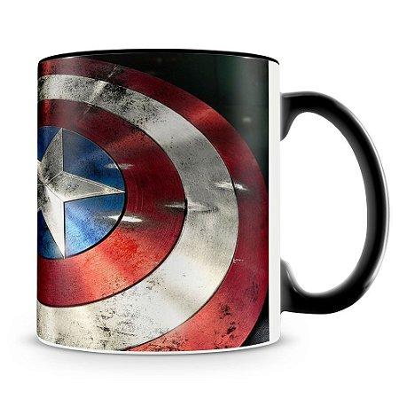 Caneca Personaliza Escudo Capitão America