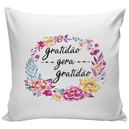 Almofada Personalizada Gratidão Gera Gratidão