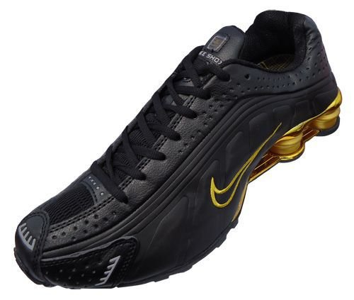 Tênis Nike Shox R4 Gel- Preto com Dourado Masculino