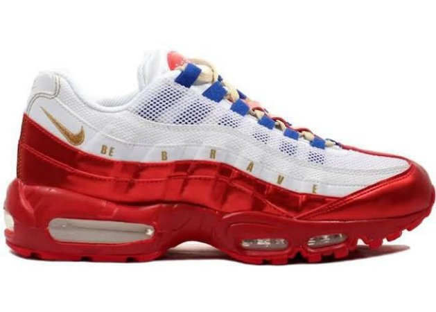 Tênis Nike air max 95- Branco com Vermelho