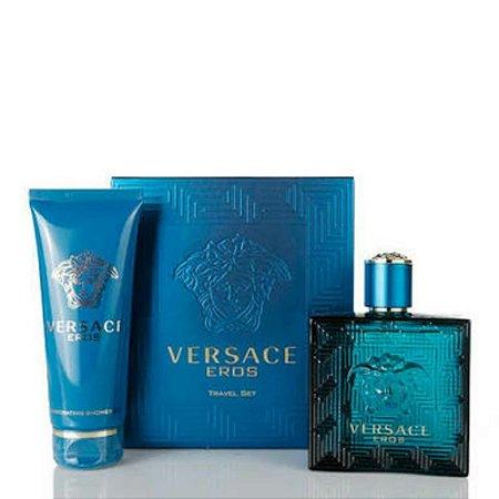 Kit Versace Eros Masculino 100ml + Showe Gel 100ml