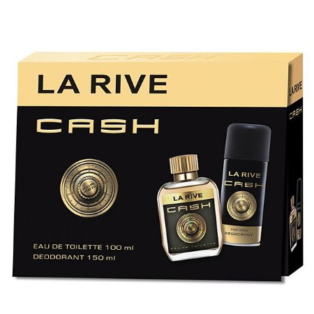 Kit Perfume Cash La Rive Masculino EDT 100ml + Desodorante 150ml