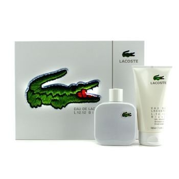 Kit Eau De Lacoste Blanc L.12.12 Edt Spray 100ml + Gel Douche Shower de 150 ml