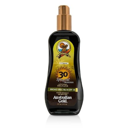 Australian Gold Spray Gel Sunscreen Spectrum With Instant Bronzer Broad Spectrum