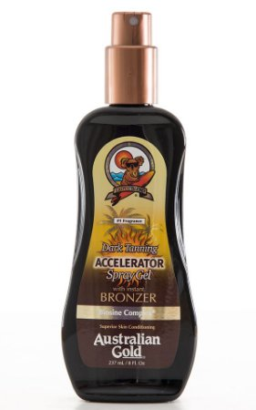 Australian Gold Dark Tanning Accelerator Spray With Instant Bronzer 237ml