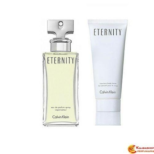 Eternity Calvin Klein Eau de Parfum 100ml + Luxurious Body Lotion/lait Sensuel Pour Le Corps 100ml