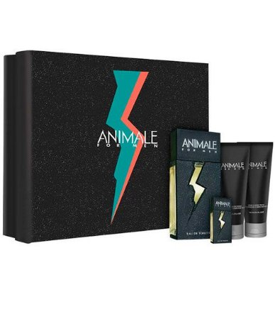 Kit Animale For Men Edt 100ml + After Shave Balm 100ml + Body Wash 100ml + Miniatura 7,5ml