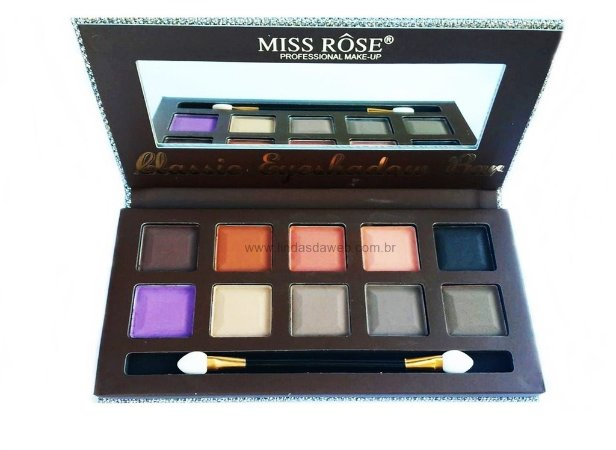Paleta Miss Rôse Classic Eyeshadow Bar 10 Sombras
