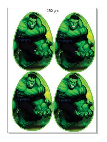 Papel ovo colher 250 grs Hulk