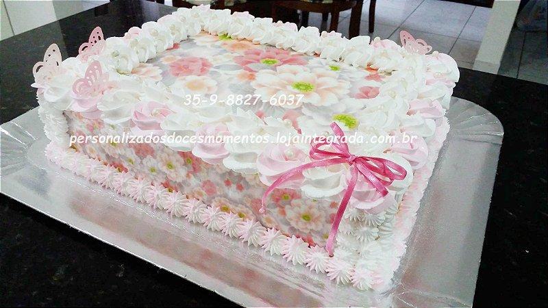 kit floral rosas faixas e borboletas  A4