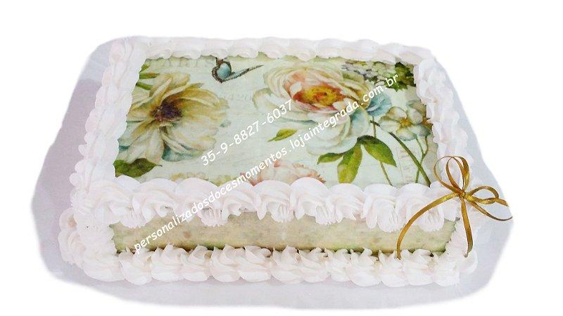 kit floral vintage Borboletas+6 faixas laterais A4