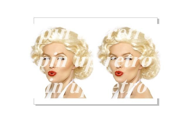 Papel arroz 3D Marylin Pin Up