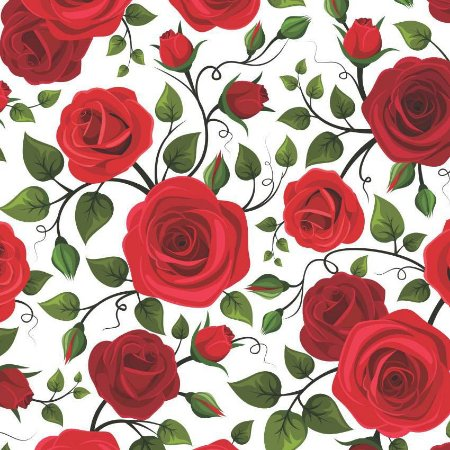 kit Papel arroz floral rosas A4