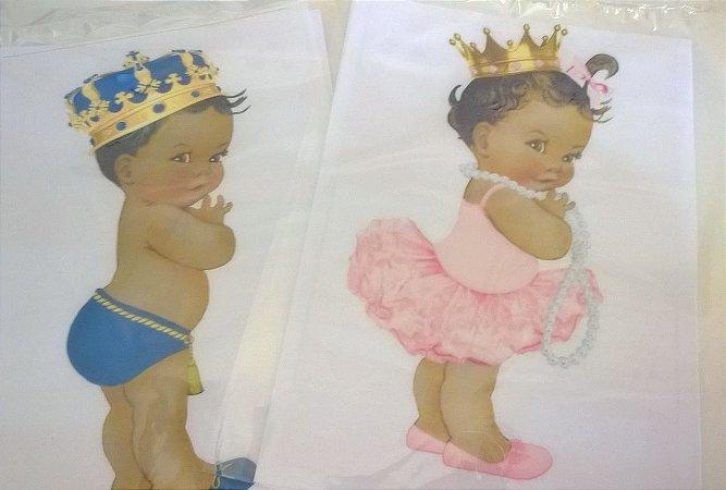 kit Papel arroz bebê Safari principe e princesa A4