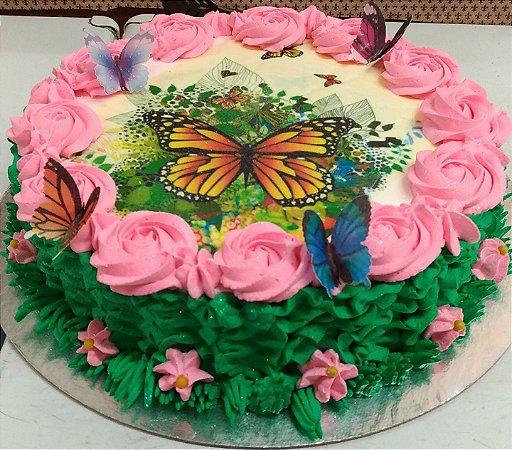Kit primavera A4+10 borboletas recortadas
