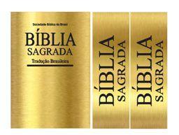KIT BIBLIA DOURADA+2 FAIXAS 9CM LARGURA
