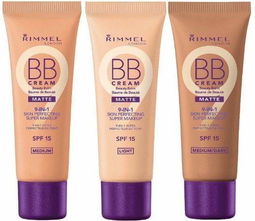 Rimmel - BB Cream Beauty Balm Matte 9-in1 Skin Perfecting Super MakeUp SPF 15