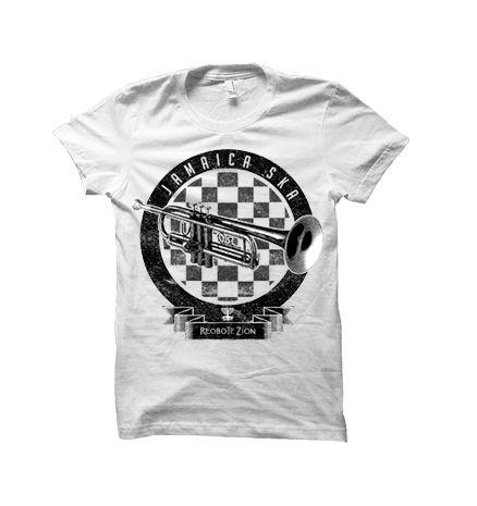 Camiseta Jamaica Ska Trompete ⃒ Masculina  GG