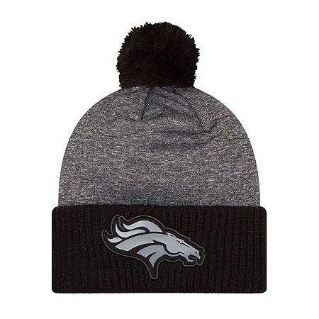 Gorro Touca Denver Broncos Gray Collection Pom - New Era