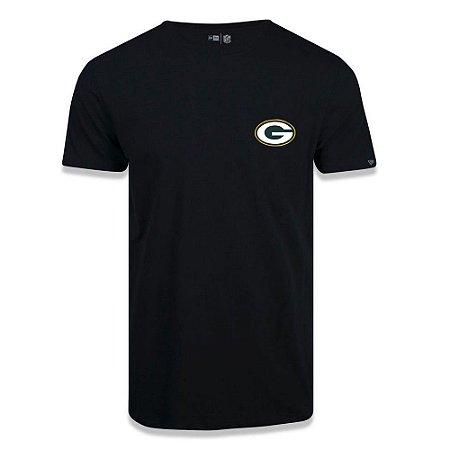 Camiseta New Era Green Bay Packers NFL Black Pack Preto