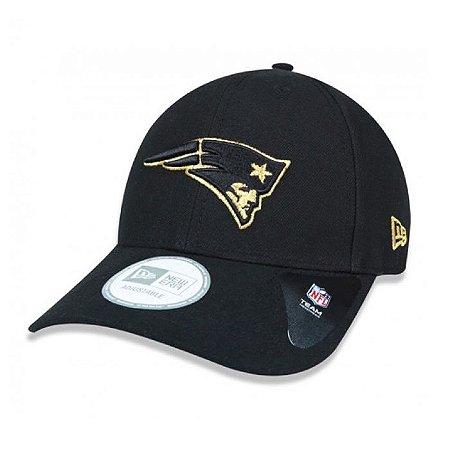 Boné New England Patriots 940 Snapback Gold on Black - New Era