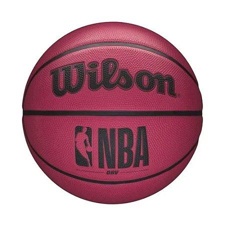 Mini Bola de Basquete Wilson NBA DRV Tamanho 3 Rosa