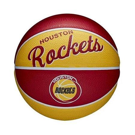 Mini Bola de Basquete Wilson Houston Rockets NBA Team Retro