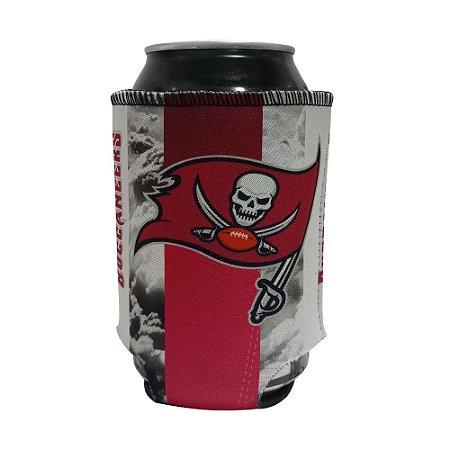 Porta Latinhas Neoprene Tampa Bay Buccaneers NFL Vermelho