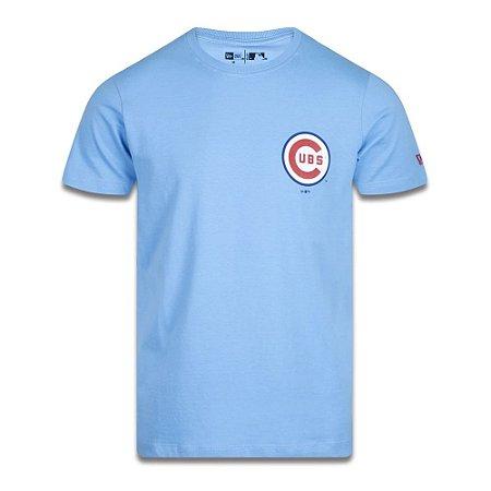 Camiseta New Era Slim Chicago Cubs MLB Have Fun Azul Claro