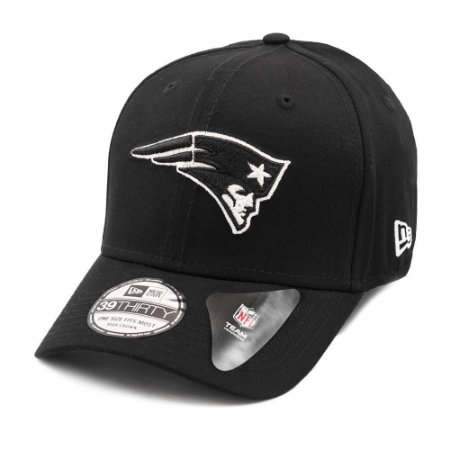 Boné New England Patriots 3930 White on Black - New Era
