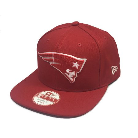 Boné New England Patriots 950 Snapback White on Red - New Era