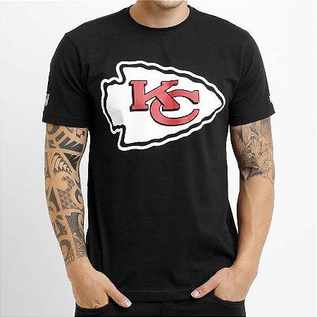Camiseta Kansas City Chiefs NFL Basic Preto - New Era